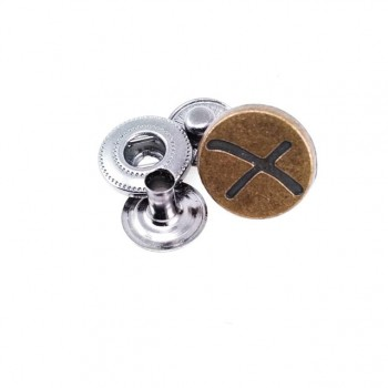 27 size 17 mm Metal snap button E 521