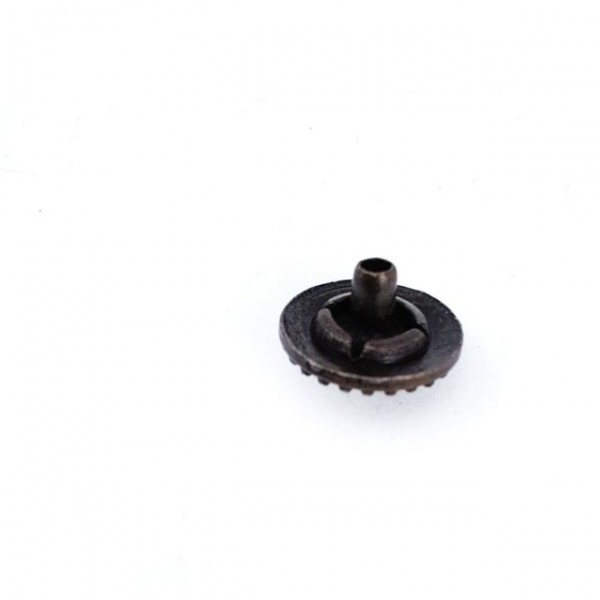 Patterned metal snap button 12 mm - 18 size E 768