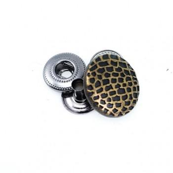 17 mm Metal snap button dot pattern E 769