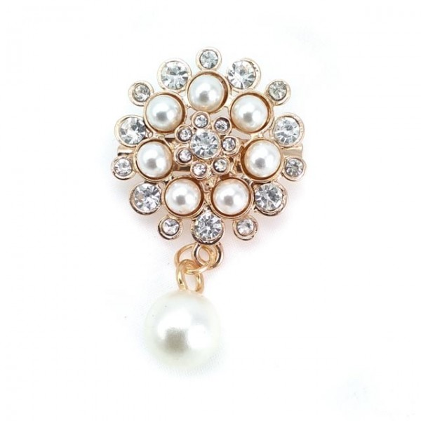 Stylish design with brooch accessory stone BR004