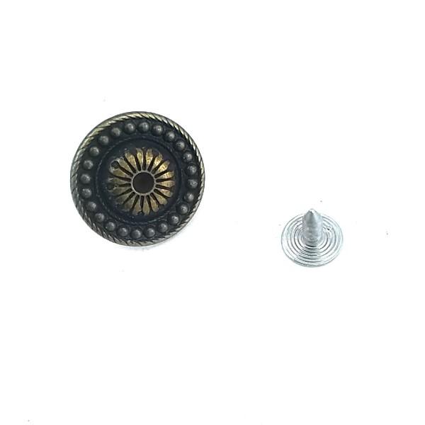 20 mm - 32 L Sunflower Pattern Jeans Button E 1004
