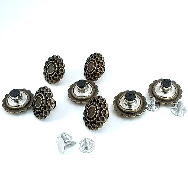 19.5 mm - 32 Size Stone Hollow Snap Button E 1032