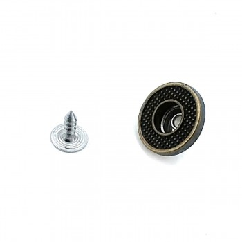 17 mm Point Patterned Fastening Jeans Button E 1371