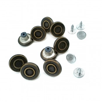 15 mm Ring Pattern Snap Button E 1550