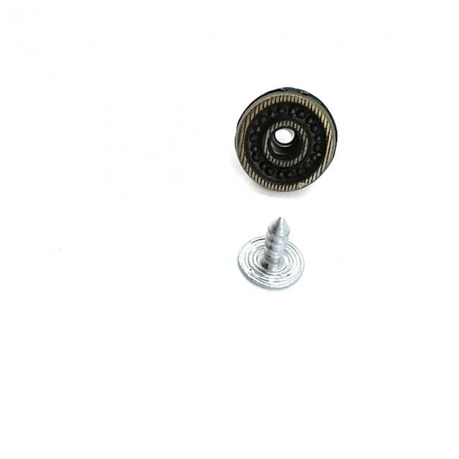 14 mm Çizgili Çakma düğme  E 157