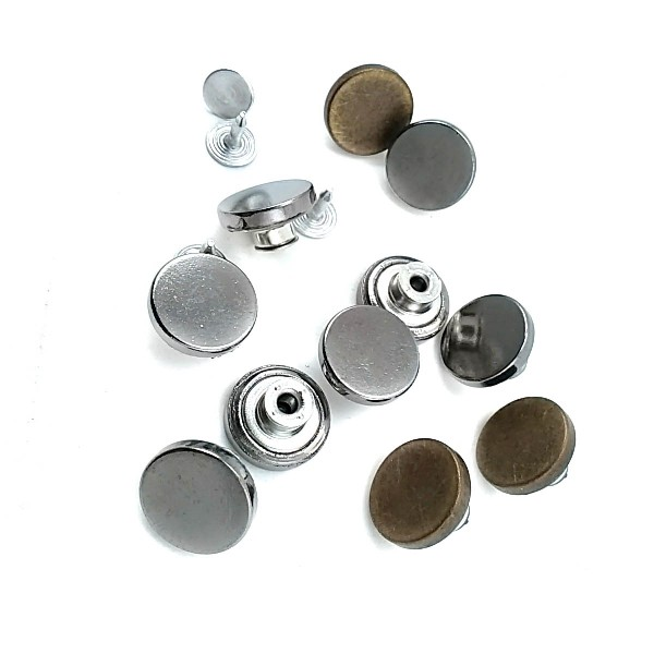 15 mm Simple Fastening Jeans Button E 1627