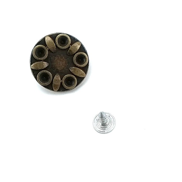 23 mm Stone & Enamel Star Design Jeans Button E 433