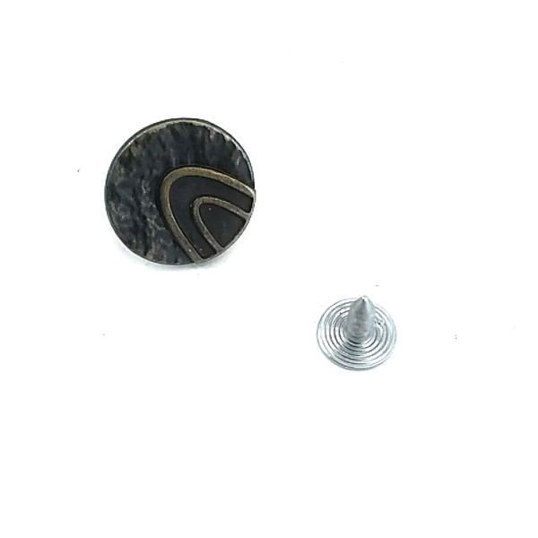 16 mm - 26 L Stylish Patterned Jeans Button E 532