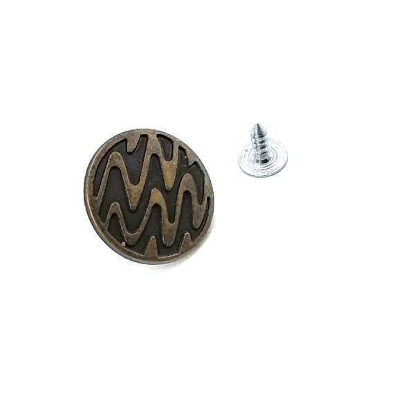 22 mm Wavy Patterned Push button E 865