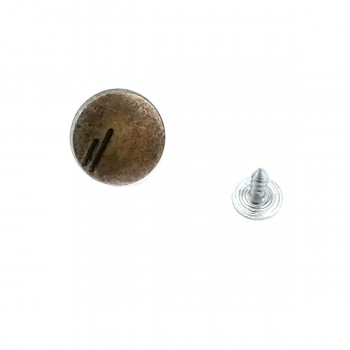 16 mm Two Stripes Fastening Jeans Button E 926
