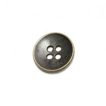 17 mm - 27 lignes Metal button post with four holes E 1012