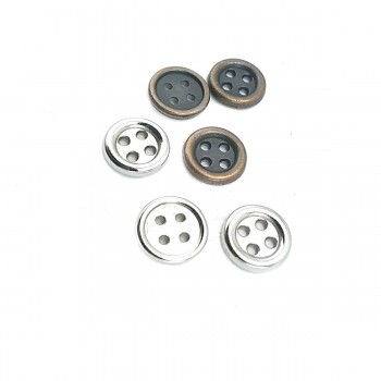 11 mm - 18 size Aesthetic Four Hole Metal Button E 1074