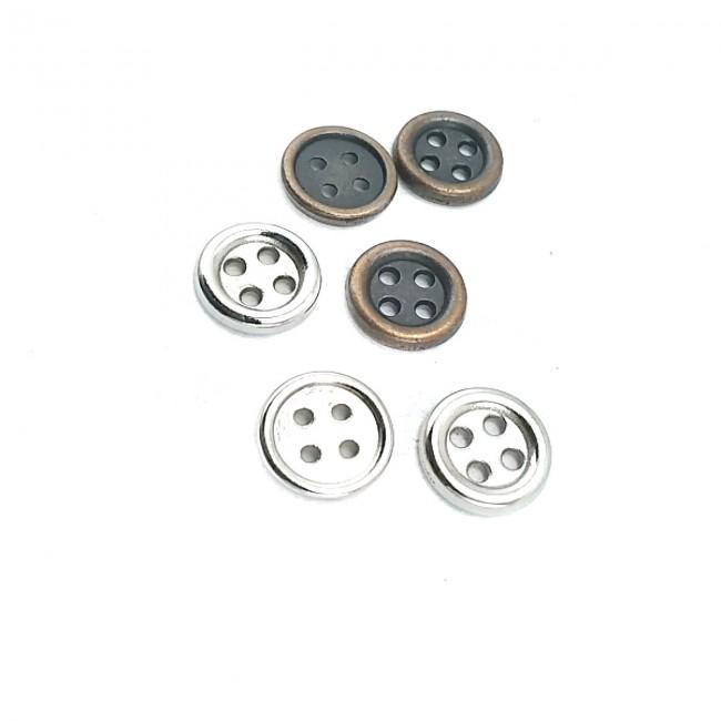 11 mm - 18 boy Estetik Dört Delikli Metal Düğme E 1074