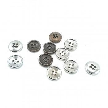 12 mm - 20 size Simple Four-Hole Metal Button E 1194