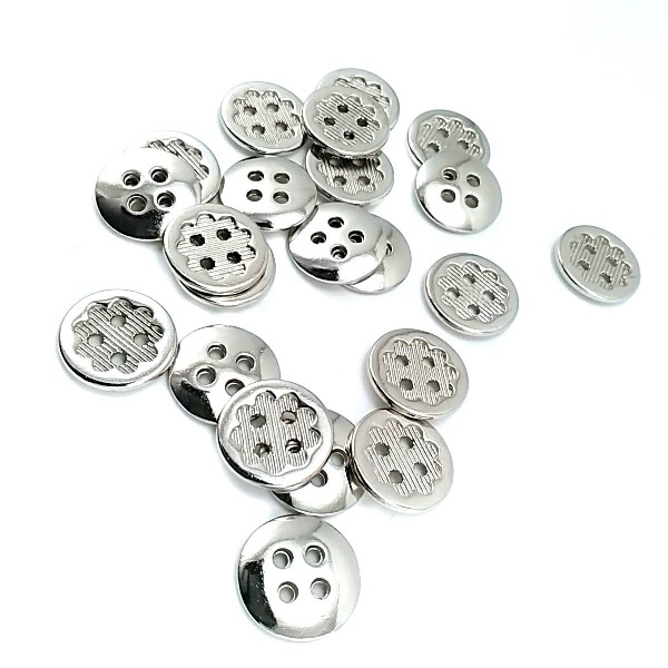 Metal button post four holes 15 mm - size 24 E 1278
