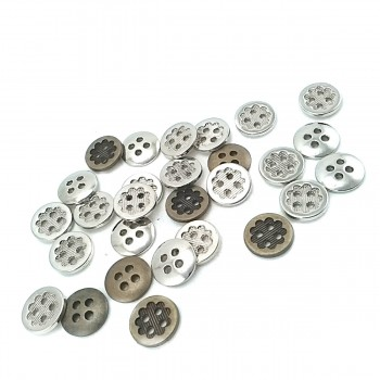 13 mm Flower Design Lined 4-Hole Sewing Button E 1279