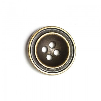 20 mm - size 31 Metal hole button with four holes E 1415