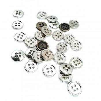 11 mm - 18 size Simple Four-Hole Metal Button E 1426
