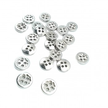 11 mm - 18 size Flower Design Lined Four-Hole Sewing Button E 1431
