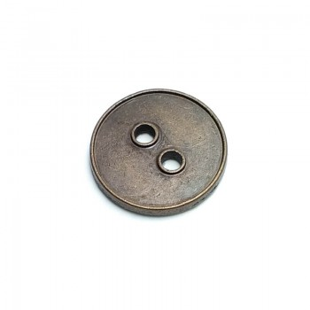 18 mm - size 28 Simple two-hole metal button E 1547