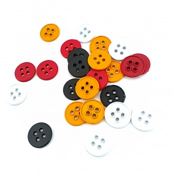 17 mm - size 27 Aesthetic metal sewing button with four holes E 1553