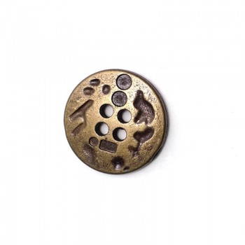 17 mm - size 27 Metal button with four holes pattern E 1558