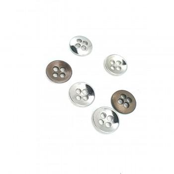 9 mm - 14 size Simple Four-Hole Metal Button E 1561