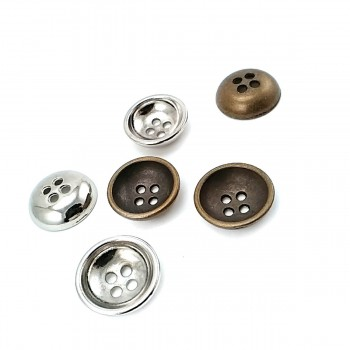 Metal button post with four holes 17 mm - Size 28 E 1632