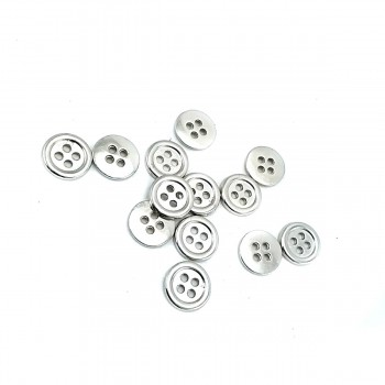 10 mm Square Button with Four Holes E 1714