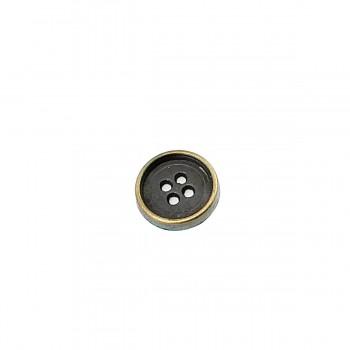 15 mm - 24 size Plain Four-hole metal button sewing E 184