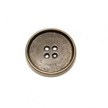 23 mm - 37 Lignes Metal button post with four holes E 185