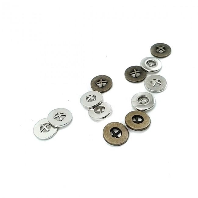 10 mm Tarz Dört Delikli Dikme Düğme E 1865