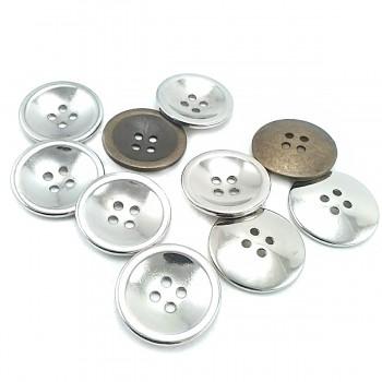 25 mm Four-Hole Metal Button E 1869