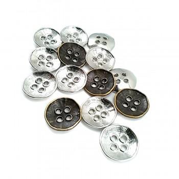 20 mm - 31 lignes Retro four-hole metal button strut E 305