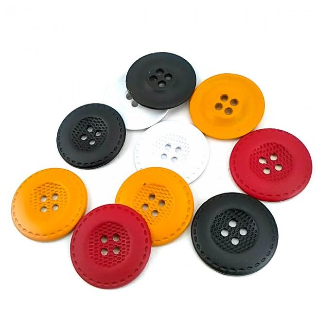 Dört delikli dikme metal düğme 25 mm E 460