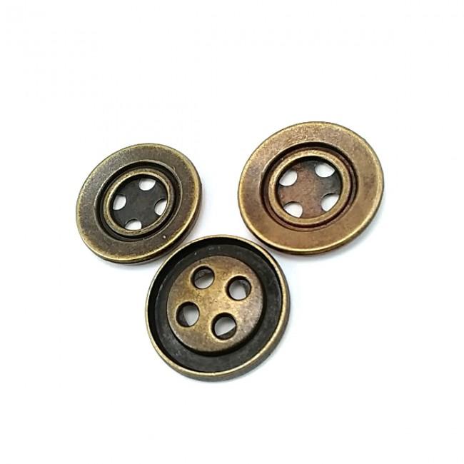 27 mm Dört Delikli Metal Dikme Düğme E 486