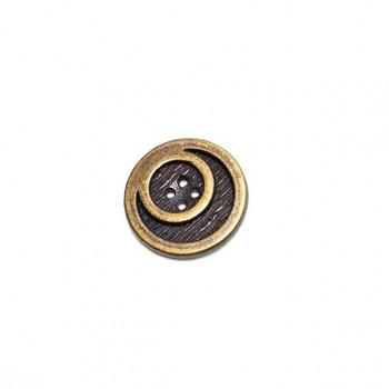25 mm -40 Lignes Metal button post with four holes E 642