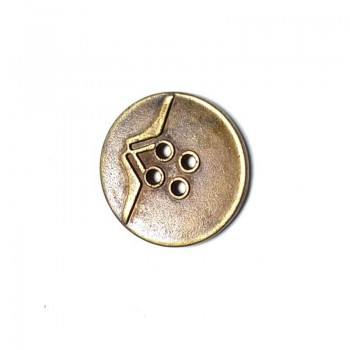 23 mm - 36 lignes Metal perforated button with four holes E 772