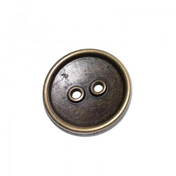 Two Hole Dental Wear Sewing Button Metal Zinc Alloy 30mm E 1150