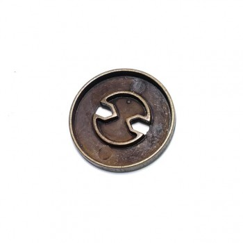 30 mm large size outerwear two-hole sewing button E 740