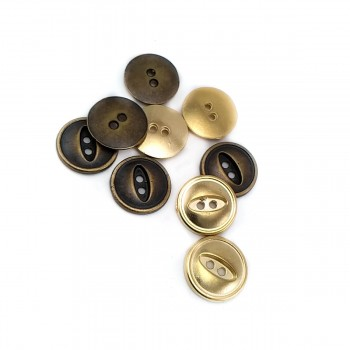 17 mm - 26 Lignes Metal button post with two holes E 1161