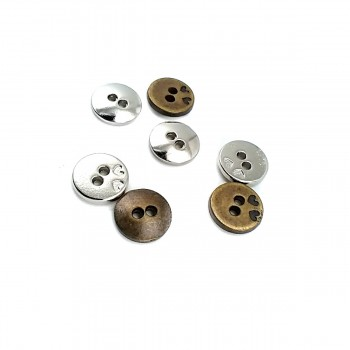 12 mm Heart Design Button With Two Holes E 1423