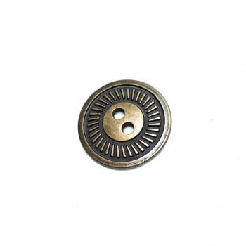 22 mm - 36 Lignes Metal button post with two holes E 159