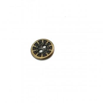 13 mm - 21 length Rim Pattern 2-Hole Sewing Button E 302