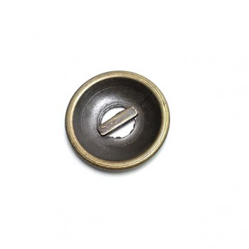 Two-hole perforated metal button 25 mm 40 lignes E 38