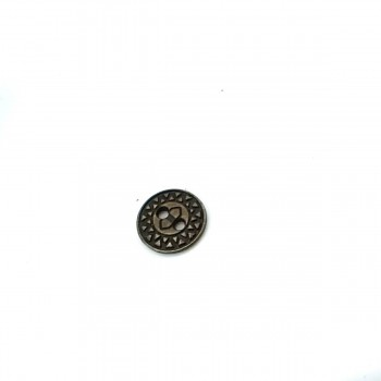 Triangle Patterned 13 mm - 21 size Metal Two-Hole Sewing Button E 522