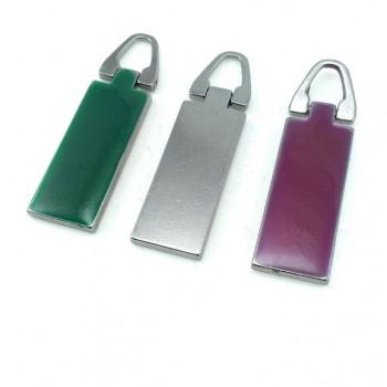50 mm x 13 mm Enameled zip pullers B 151