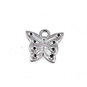 17 mm x 17 mm Butterfly Shaped Zipper Puller E 1230