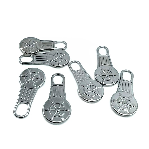 Rudder Patterned Metal Handle 34 mm x 16 mm E 128