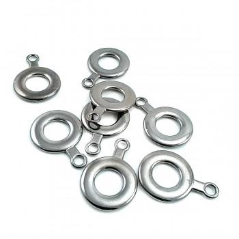 20 mm x 29 mm Ring Shape Zipper Pullers E 1612